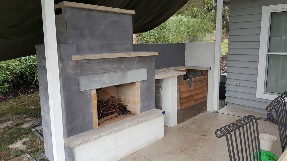 outdoor fireplace finishes : thewhiteblackbird.com